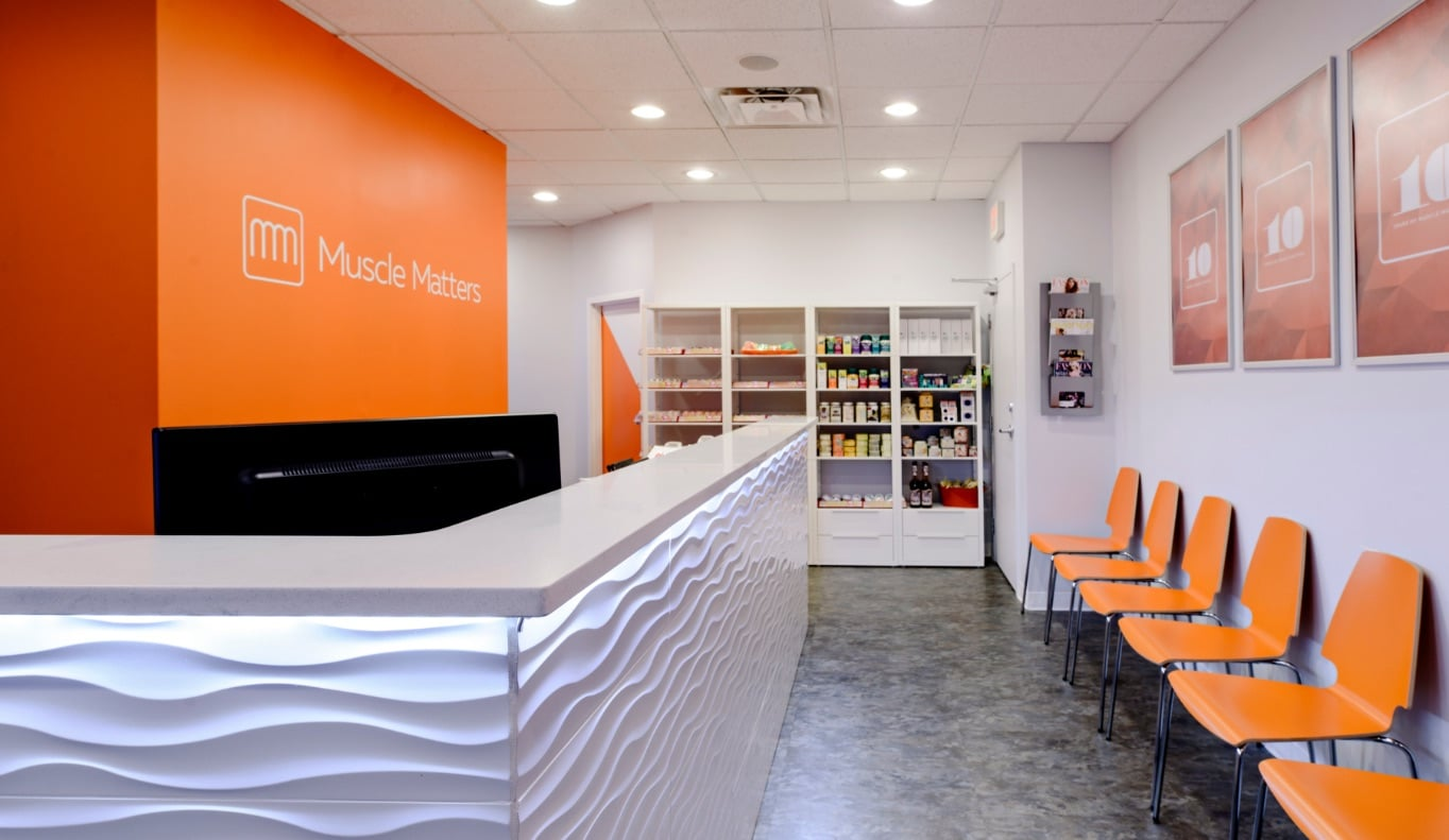 Interior of Muscle Matters, and Edmonton Massage Therapy Clinic