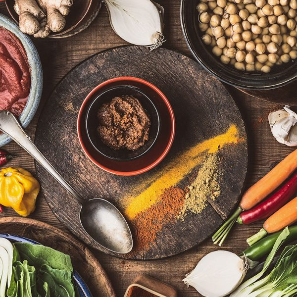 A collection of vegetarian foods
