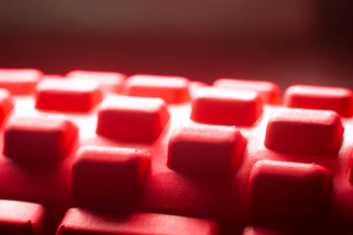 A closeup view of a knobbed foam roller